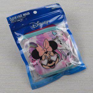 🧁3/$30 Disney 3-Pc Minnie Unicorn Cloth Face Mask